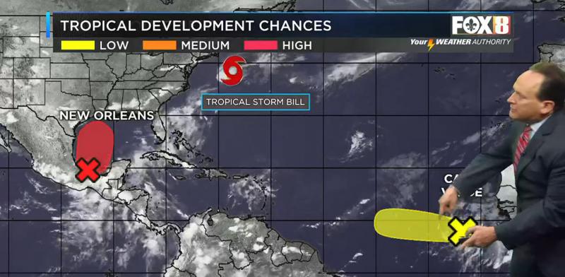 Desarrollo tropical en el Golfo posiblemente a finales de semana lluvia intensa mayor amenaza